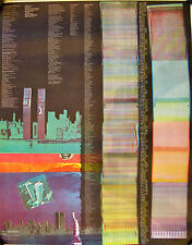 Original 1977 World Trade Center poster — abstract art, VERY colorful!