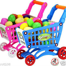 Baby Educational Toy Shopping Carts With Fruit Vegetable Pretend Play Toy