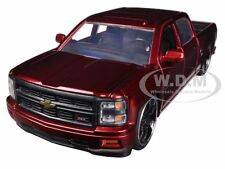 2014 CHEVROLET SILVERADO CUSTOM EDITION RED 1/24 DIECAST MODEL CAR BY JADA 97026