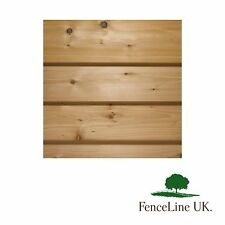 Pack of 20 1.8m (6ft) Treated Shiplap Cladding 150mm X 15mm Shed Fencing Wood