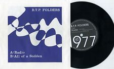 "B.T.P. Folders - Radio 7""  Back Seat Romeos Richard & The Taxmen Power Pop Punk"