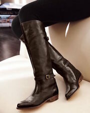 FRYE $458 DARK BROWN LEATHER DORADO TALL RIDING  77561  BOOTS  7.5