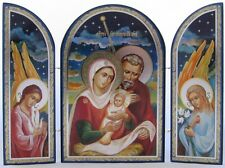 The Holy Child with the Blessed Virgin Mary and Joseph - Triptych Christmas Icon