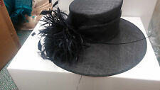 Nigel Rayment Navy Hat Dark Navy Feathered Hat BRAND NEW RRP £210