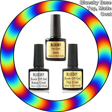 Bluesky™ Top and Base and Matte Top Coats 10ml UV~LED Soak Off Gel Nail Polish""