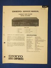 ONKYO DX-3800 CD SERVICE MANUAL ORIGINAL FACTORY ISSUE THE REAL THING     v2