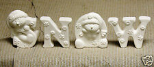 Ceramic Bisque Snow Snowmen Clay Magic Mold 2161 U-Paint Ready To Paint