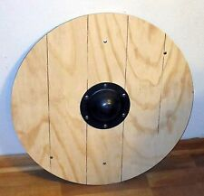 "Viking planked 24"" round shield  SCA LARP Cosplay"