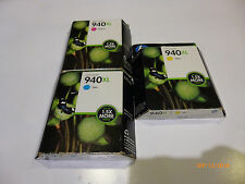 HP 940XL High Yield C/M/Y Color Combo Pack Ink Cartridges NEW Sealed package