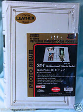 Pioneer BTA-204 White Bonded Leather 3 Ring Photo Album, BINDER ONLY-no pages