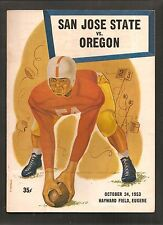 Vintage 1953 San Jose State at Oregon Ducks College Football Program w/ AA cover