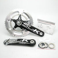 New FSA SL-K Light Carbon 50/34T 170mm 10 Speed BB30 Crankset (White Decals)