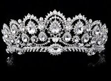 Luxury Queen Tiara Wedding Crown Crystal Rhinestone Headband Bridal Headpieces