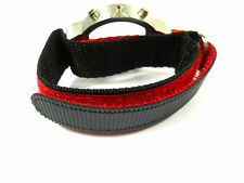 0 7/10in RED BLACK VELCRO WATCH STRAP WATCH BAND FABRIC BAND