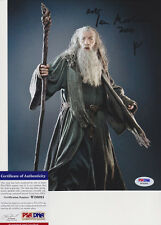 SIR IAN MCKELLEN SIGNED AUTOGRAPH LORD OF THE RINGS HOBBIT GANDALF PSA/DNA COA
