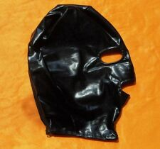 Black Spandex Paint With Latex Hood Full Mask Eyes & Mouth Open Breathable 362