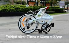 "20"" ultra light aluminum alloy shimano 8 speeds folding bike disc brakes(10.8kg)"