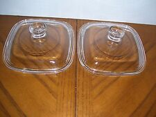 2 Petite Replacement Glass Lid fits Corning Ware Pyrex P-41 P-43 Petite Dishes