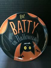 """Pottery Barn Kids HALLOWEEN BAT PLATE Kitchen Dining Table Party 9"""" Melamine NEW"""