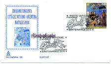 FDC NATALE 2014 CHRISTMAS NOËL NAVIDAD VATICAN First Day Cover CAPITOLIUM 509