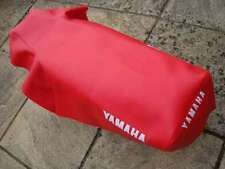 Motorcycle seat cover - Yamaha DT125LC in red with print on sides & back
