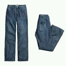 NWT H&M Logg High Waist Flared Leg Blue Denim Jeans, Size US 4 US 2 US 0