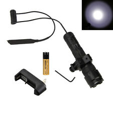 5000Lm Rechargeable CREE T6 LED Tactical Hunting Flashlight Mount Torch Gun lamp