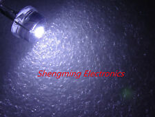 100pcs 8MM 0.5W Water Clear White Light Straw Hat LED Diodes Wide Angle DIP Bulb