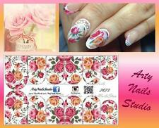 #2823 Slider design for nail art (decal stickers for gel polish, acrylic)
