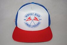 New Quiksilver Mesh Trucker Cap Newport Beach Junior Lifeguard Men's Hat OSFM