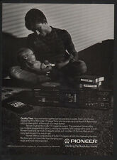 1989 PIONEER PD-M700 6 DISC CD Player - Compact Disc - FATHER & BABY  VINTAGE AD
