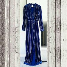 H&M STUDIO COLLECTION AW 2016 FALL RUNWAY SILK VELVET MAXI DRESS SIZE 6 US