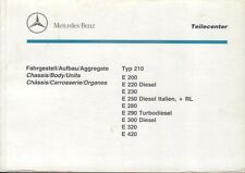 Mercedes Benz Clase E W210 W170 Saloon Original Chasis & Body lista De Repuestos 1995