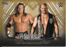 2016 Topps WWE Undisputed Tag Teams Gold #35 TheTwo Man Power Trip #04/10