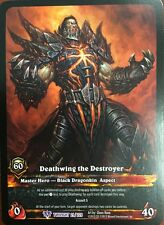 WORLD OF WARCRAFT WOW TCG RARE EXTENDED ART : DEATHWING DESTROYER ALTERNATE ART