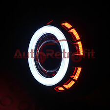 White/Red Dual LED Halo Rings Monster Shrouds for 2.5'' Projector Lens Retrofit