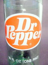 vintage ACL Soda Pop Bottle:  light green DR PEPPER   - 16 oz ACL