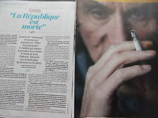 coupures de presse photos reportage -  MICHEL HOUELLEBECQ   9 pages  REF. 2759