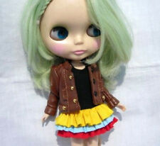 Blythe Outfit Clothing Leatherette Brown Coat Jacket