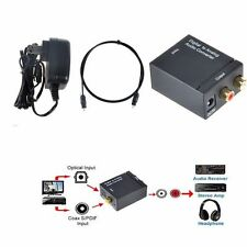 Optical Fiber Cable+Coaxial Toslink 2 RCA L/R Analog Audio Converter Box/Adapter