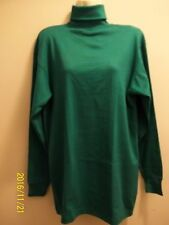 Men's and Women's Long Sleeve Turtle Neck T-Shirt Top, Green, XL