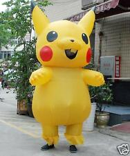 Adult Large Mascot Pikachu Inflatable Costume Cosplay Halloween Funny Dress prop