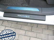 VW TOUAREG II 2010- Stainless Steel Carbon Film Door Sill Guard Scuff Protectors