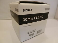 Brand NEW  Sigma 30mm F1.4 DC HSM / Art  Black Lens for Pentax K  Mount Cameras