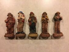 5 1940's Syroco Clay figures Fiddler Band Vintage Collectibles