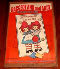 VERY RARE VINTAGE RAGGEDY ANN & ANDY BEAN BAG TOSS GAME TOY SET - DOLL FIGURE