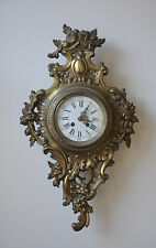 """Antique French Wall Clock -  Movement Is Stamped """"A.D. Mougin Deux Medailles"""""""