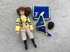 Rare Breyer Horse Traditional Accessory #2449 Race Tack Set Doll Jockey Pad