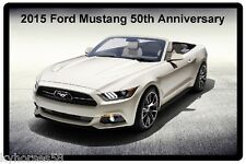 2015 Ford Mustang 50th Anniversary Refrigerator Magnet