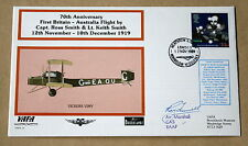 VAFA 15 BROOKLANDS 1ST BRITAIN - AUSTRALIA FLIGHT COVER SIGNED Air Mshl FUNNELL